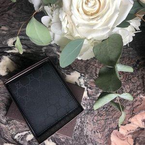 Gucci Black GG nylon wallet